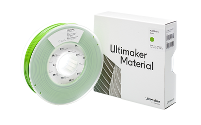 Ultimaker Green PLA Filament with Box