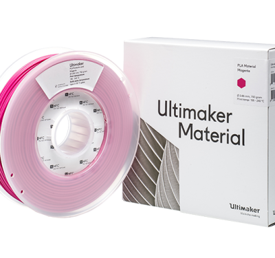 Ultimaker Magenta PLA Filament with Box