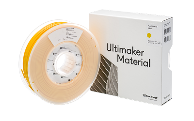 Ultimaker PLA Yellow Filament with Box