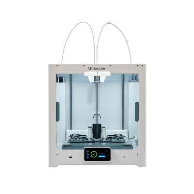 Ultimaker S5 front view with parts