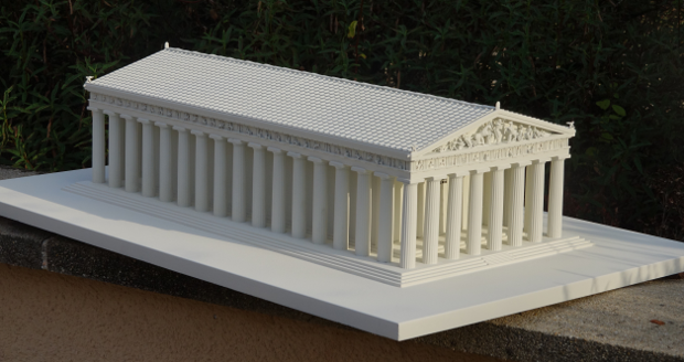 Parthenon Reconstructed With 3d Printing